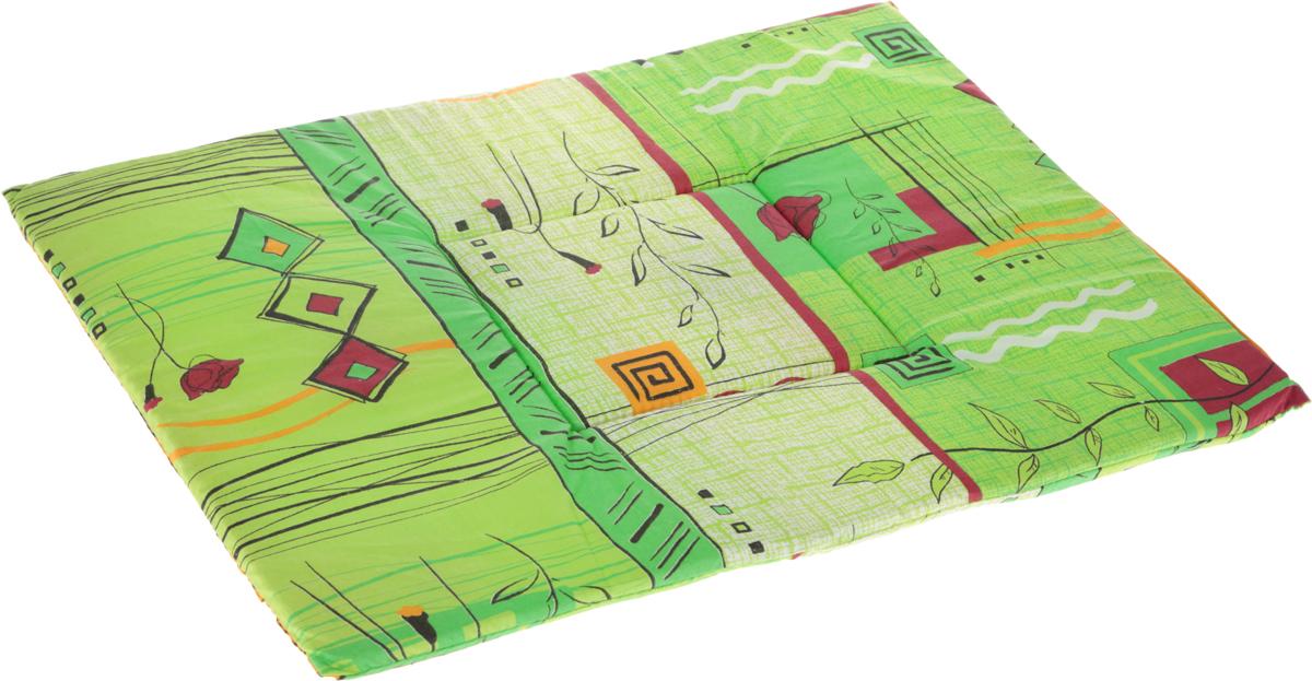Лежак для животных Elite Valley Матрасик, цвет: зеленый, 45 х 60 см. Л7/5Л7/5Лежак для животных Elite Valley Матрасик изготовлен из высококачественной бязи и оформлен оригинальным принтом. Наполнение выполнено из поролона, обеспечивающего тепло и мягкость.Идеален для переносок и использования в автомобиле. Он станет излюбленным местом вашего питомца, подарит ему спокойный и комфортный сон. Высота матраса: 2 см.