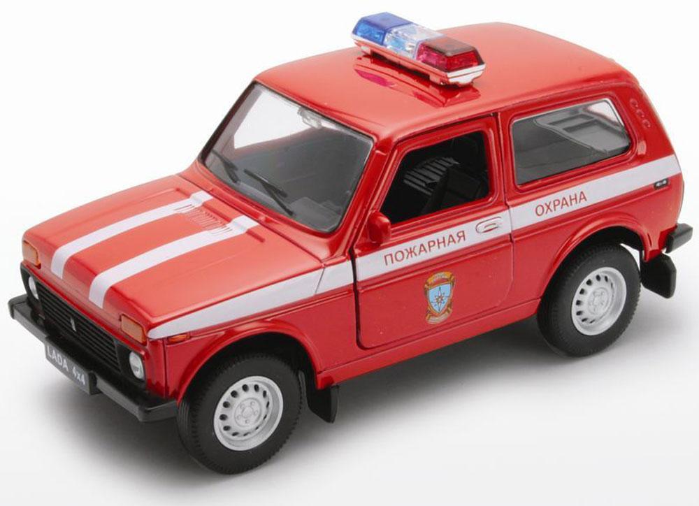 Welly Модель автомобиля LADA 4x4 Пожарная охрана машинки autotime машина lada 111 пожарная охрана