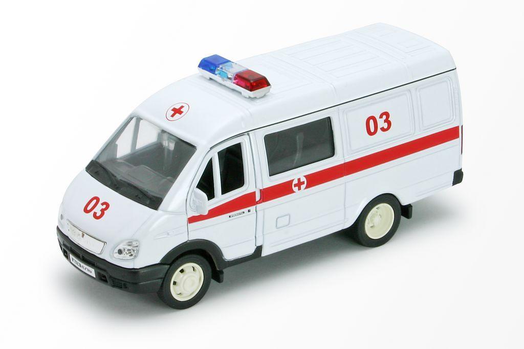 Welly Модель автомобиля ГАЗель Скорая помощь welly welly набор служба спасения скорая помощь 4 штуки