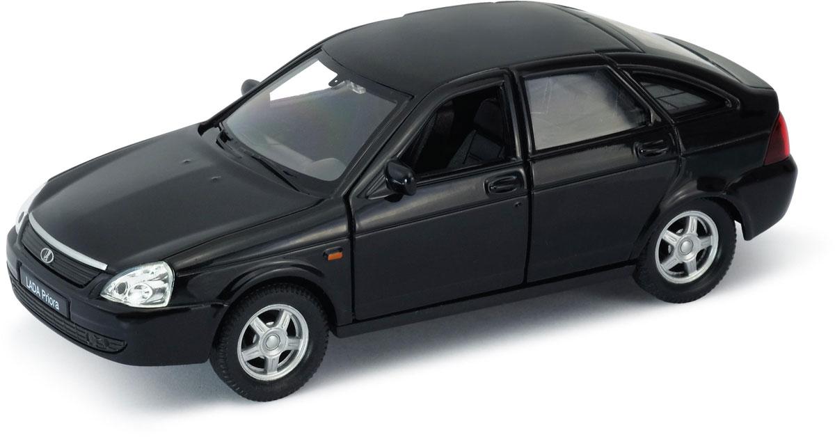 Welly Модель автомобиля LADA Priora цвет черный welly модель автомобиля audi r8 v10 цвет красный