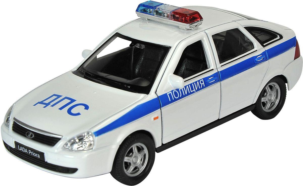 Welly Модель автомобиля LADA Priora Полиция welly модель автомобиля audi r8 v10 цвет красный