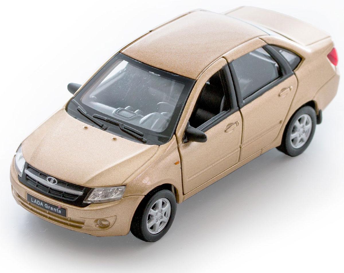 Welly Модель автомобиля LADA Granta цвет золотистый welly 43657ti модель машины 1 34 39 lada granta такси