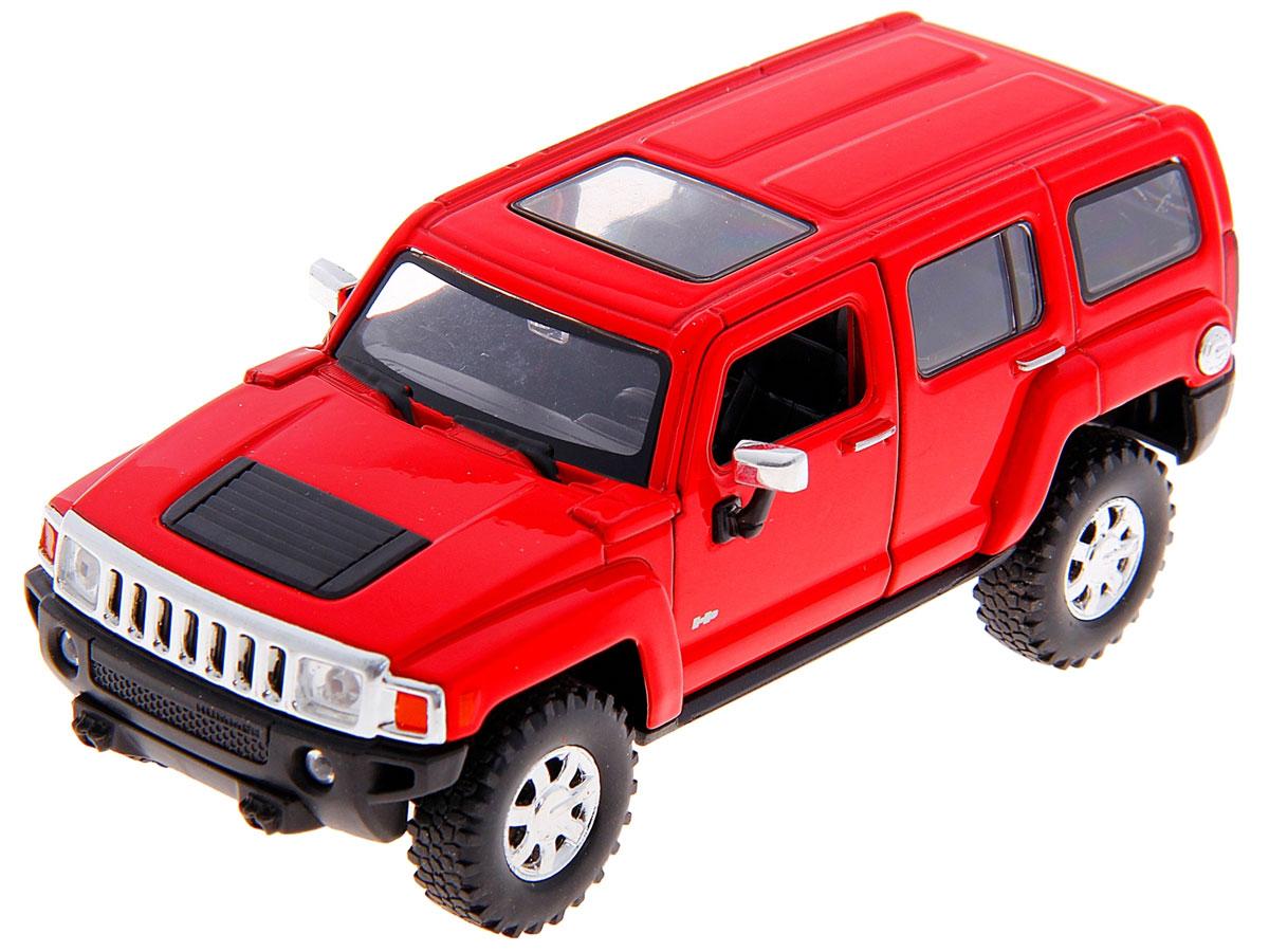 Welly Модель автомобиля Hummer H3 цвет красный welly hummer h3 1 34 39