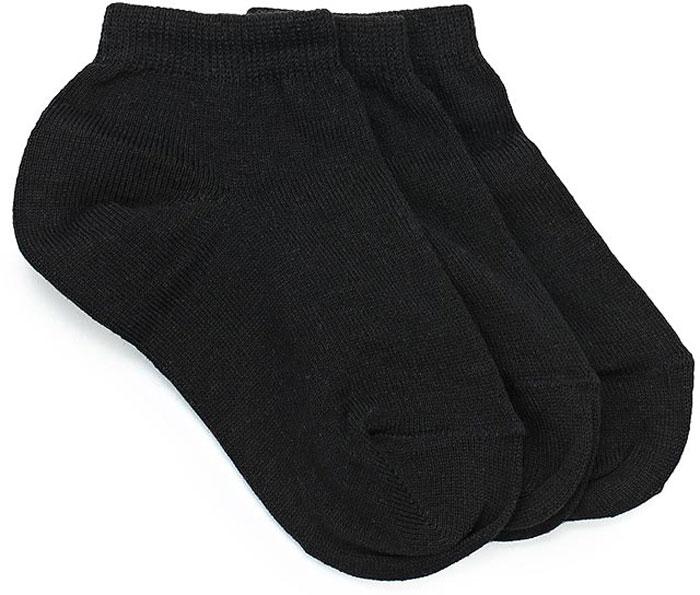 Носки для мальчика Sela, цвет: черный, 3 пары. SOb-7854/063-7412-3set. Размер 18/20 носки для мальчика sela цвет серый меланж sob 7854 035 7101 размер 20 22