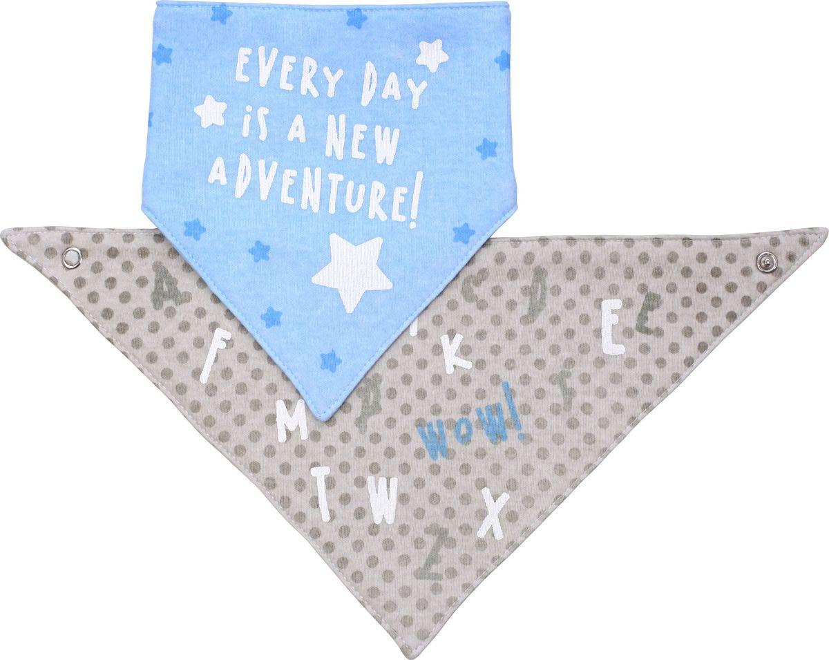 BabyOno Нагрудник-шейный платок 2 в 1 Wow!