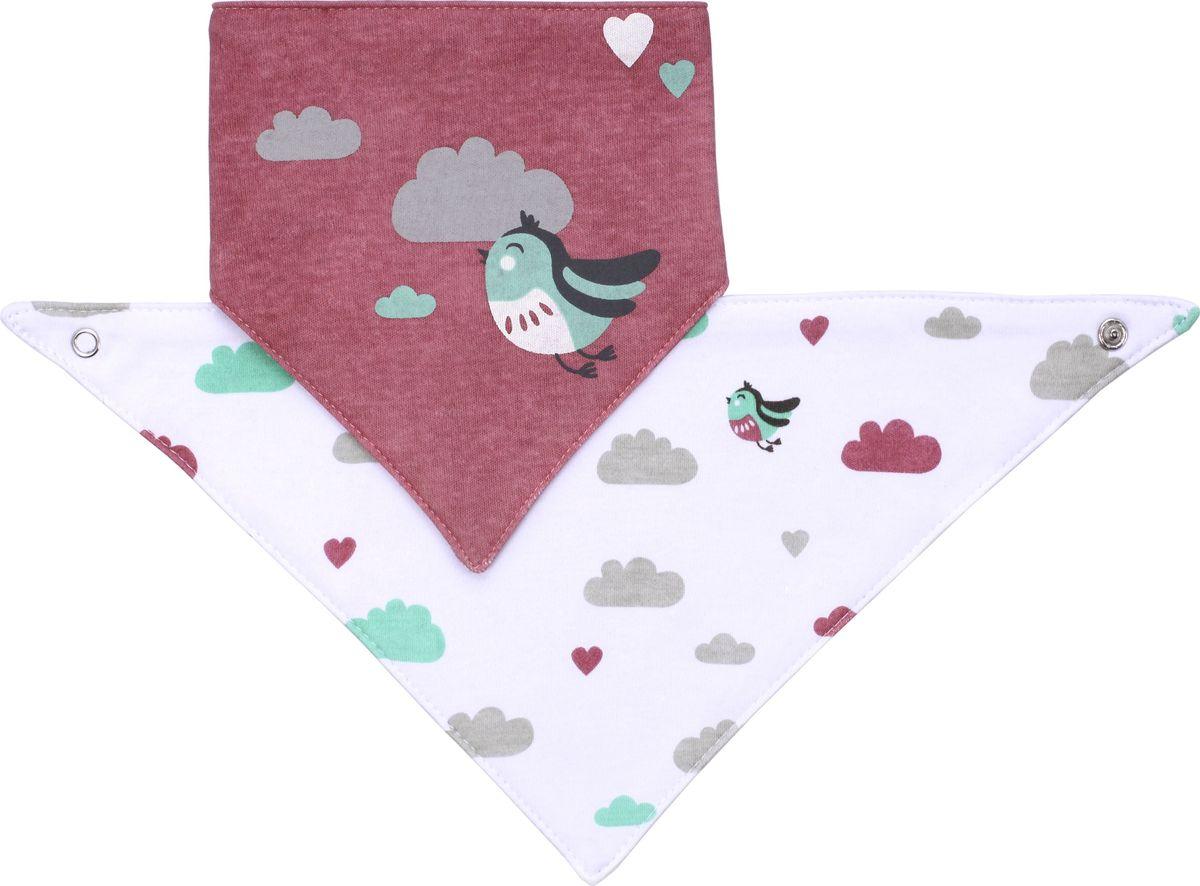 BabyOno Нагрудник-шейный платок 2 в 1 Птички babyono универсальная карусель с мелодией птички