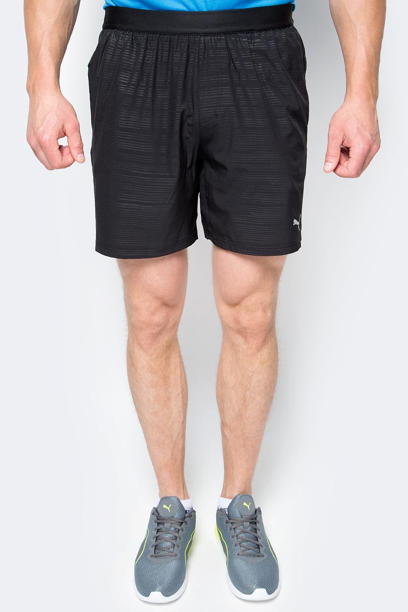 Шорты для бега мужские Puma Pace 7'graphic Short, цвет: черный. 51495901. Размер M (46/48)