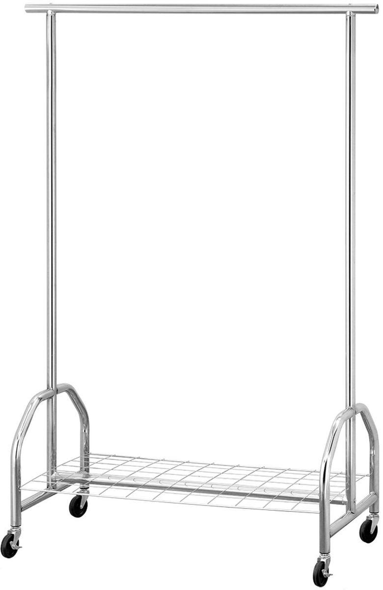 Стойка для одежды Tatkraft Ironman, с полкой для хранения обуви и коробок13469Стойка для одежды Tatkraft Ironman - сверхпрочная стальная стойка для одежды, имеет встроенную полку для хранения обуви и коробок, усиленные колеса со стопорами. Сварочные соединения без пластиковых элементов, супер прочная, выдерживает вес до 100 кг.