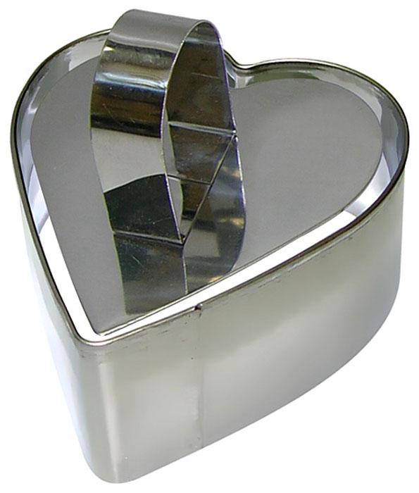 Форма для выпечки Мультидом Сердце, с крышкой-прессом, 9 х 10 х 4 см набор форм для выпечки мультидом круг 2 шт