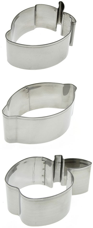 Набор форм для выпечки Мультидом Фрукты, 3 шт набор форм для выпечки мультидом круг 2 шт
