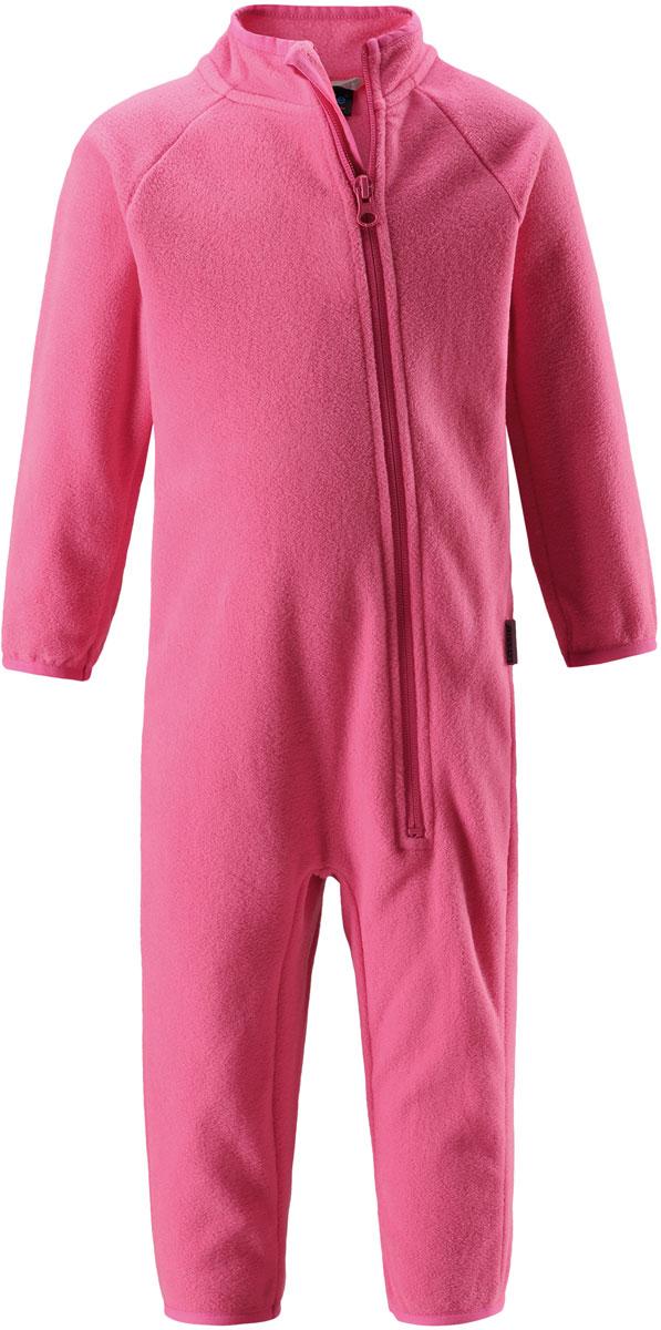 Комбинезон утепленный флисовый для девочки Lassie, цвет: розовый. 7167003320. Размер 747167003320Флисовый комбинезон для девочки Lassie - превосходное дополнение к гардеробу вашего ребенка. Комбинезон изготовлен из теплого дышащего материала, который отводит влагу в верхние слои одежды. Комбинезон застегивается на длинную молнию с защитой подбородка. В таком комбинезоне малышке будет максимально комфортно и тепло.