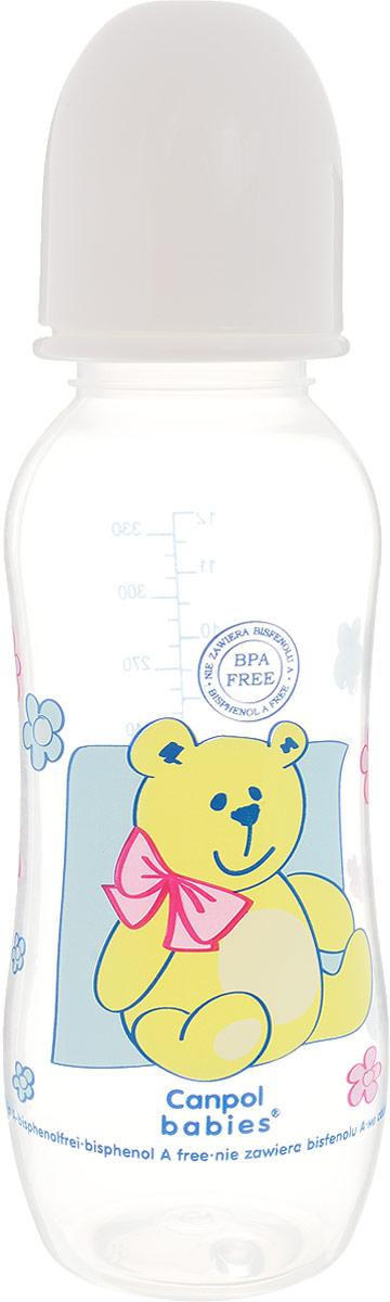 Canpol Babies Бутылочка для кормления с силиконовой соской от 12 месяцев цвет белый 330 мл