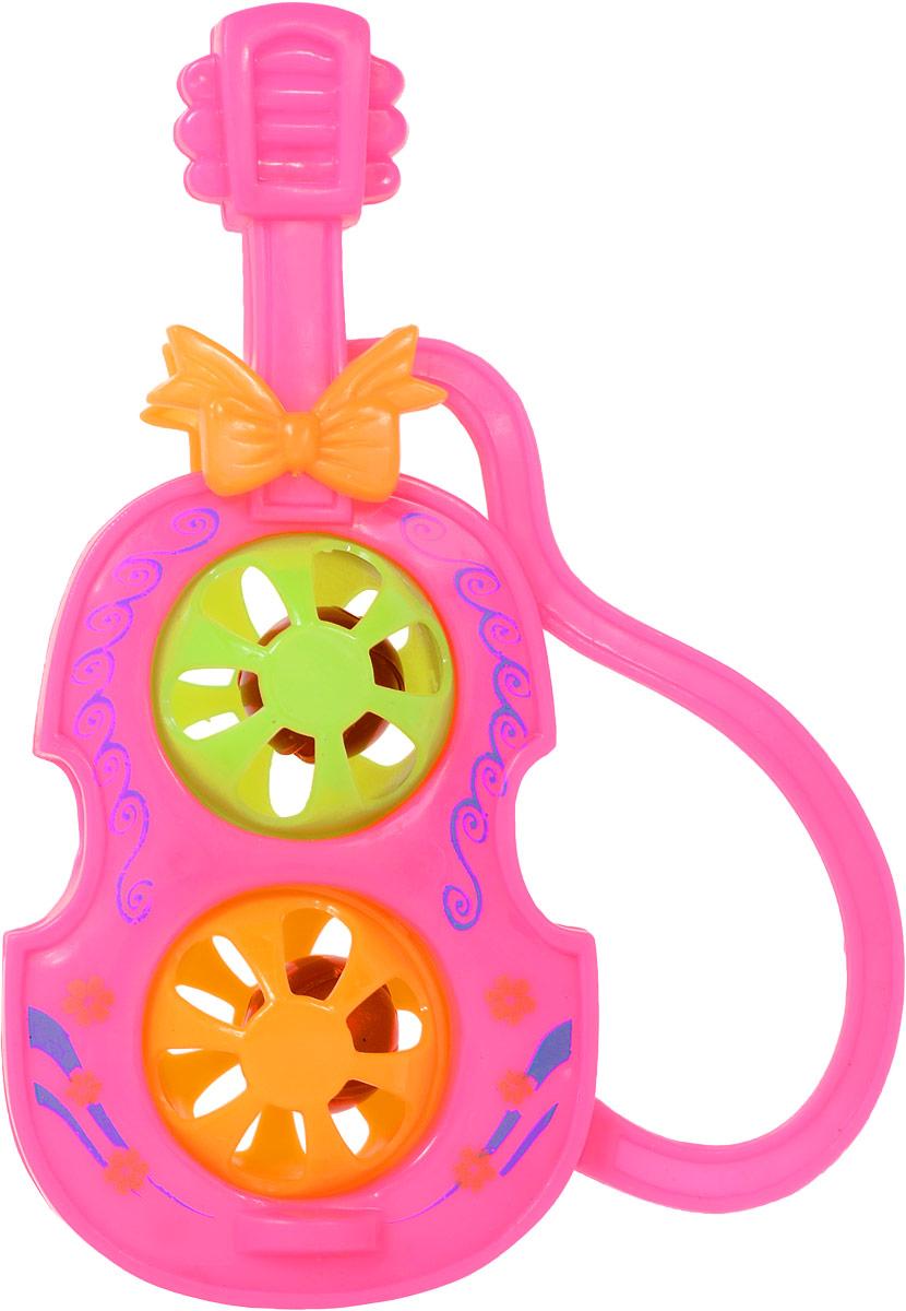 1TOY Погремушка Гитара цвет розовый
