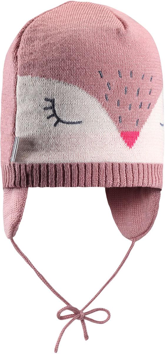 Шапка детская Lassie, цвет: розовый. 7187224310. Размер 46/487187224310Комфортная детская шапочка Lassie идеально подойдет для прогулок в холодное время года, защищая ушки ребенка от ветра.Шапочка выполнена из шерсти и полиакрила. Шерсть хорошо тянется и устойчива к сминанию, а сочетание с полиакрилом обеспечивает меньшее сваливание. Модель дополнена завязками, с помощью которых шапку можно зафиксировать под подбородком.Уважаемые клиенты!Размер, доступный для заказа, является обхватом головы.