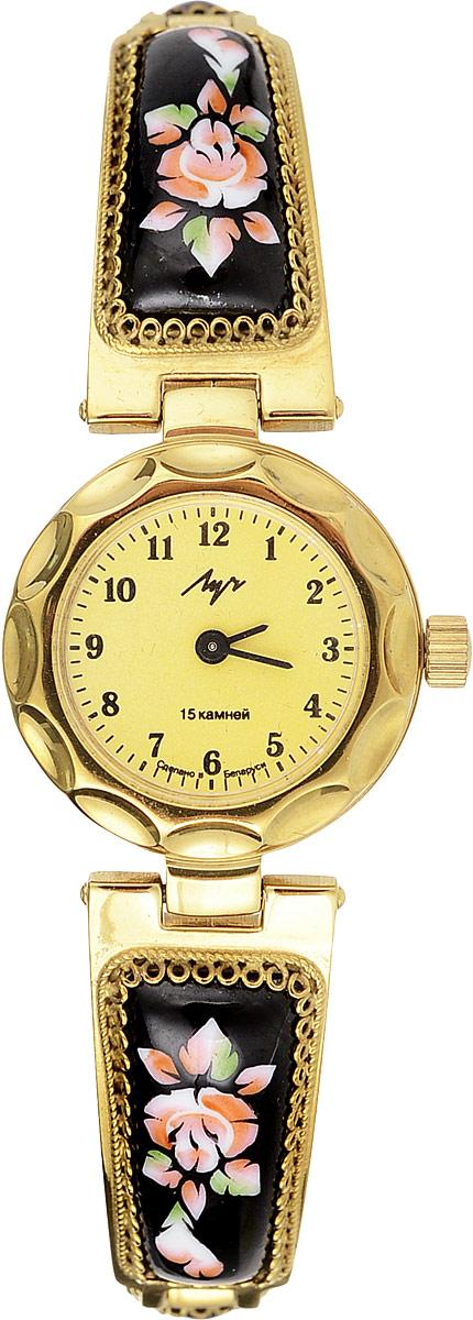 Часы наручные женские Луч Классическая коллекция, цвет: золотой, черный. 81379515