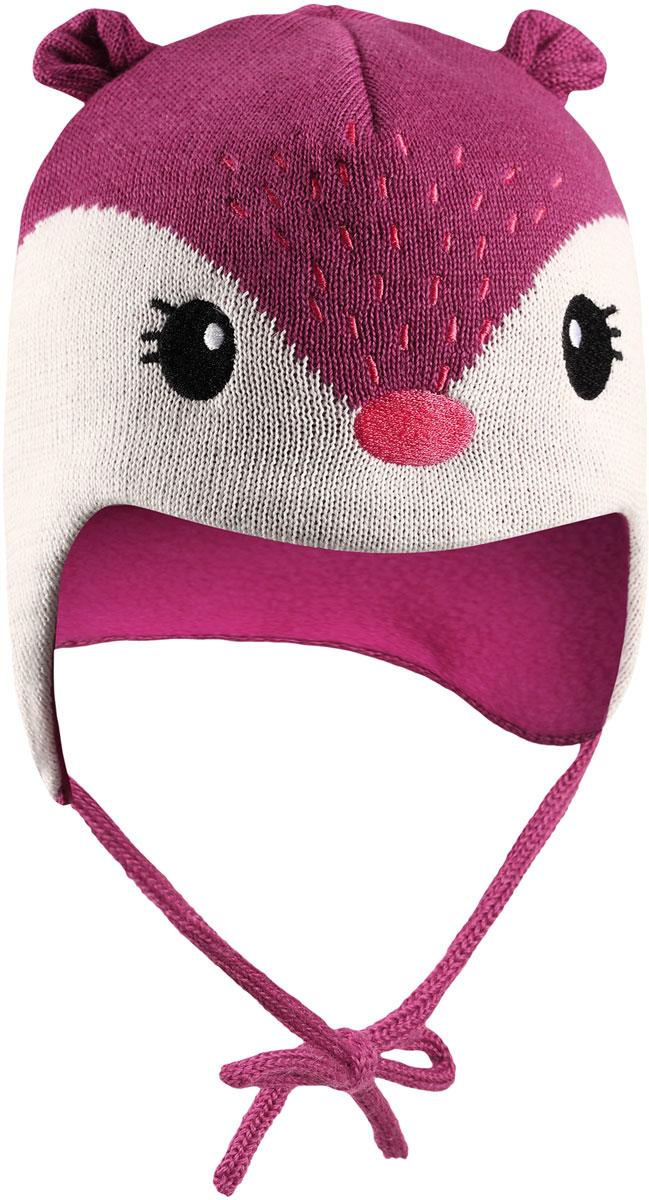 Шапка для девочки Lassie, цвет: розовый. 7187264800. Размер 46/487187264800Комфортная детская шапка Lassie идеально подойдет для прогулок в холодное время года, защищая ушки ребенка от ветра.Шапочка выполнена из полиакрила и шерсти. Уважаемые клиенты!Размер, доступный для заказа, является обхватом головы.