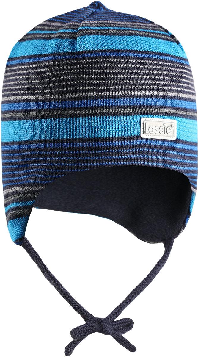 Шапка детская Lassie, цвет: синий. 7187276961. Размер 48/507187276961Комфортная детская шапка Lassie идеально подойдет для прогулок в холодное время года, защищая ушки ребенка от ветра.Шапочка выполнена из шерсти и полиакрила. Шерсть хорошо тянется и устойчива к сминанию, а сочетание с полиакрилом обеспечивает меньшее сваливание. Уважаемые клиенты!Размер, доступный для заказа, является обхватом головы.