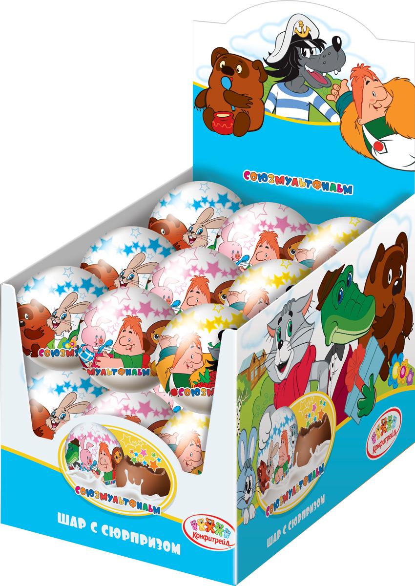 Союзмультфильм молочный шоколад с магнитом, 18 шт по 25 г конфитрейд disney драже с игрушкой проектор 8 г