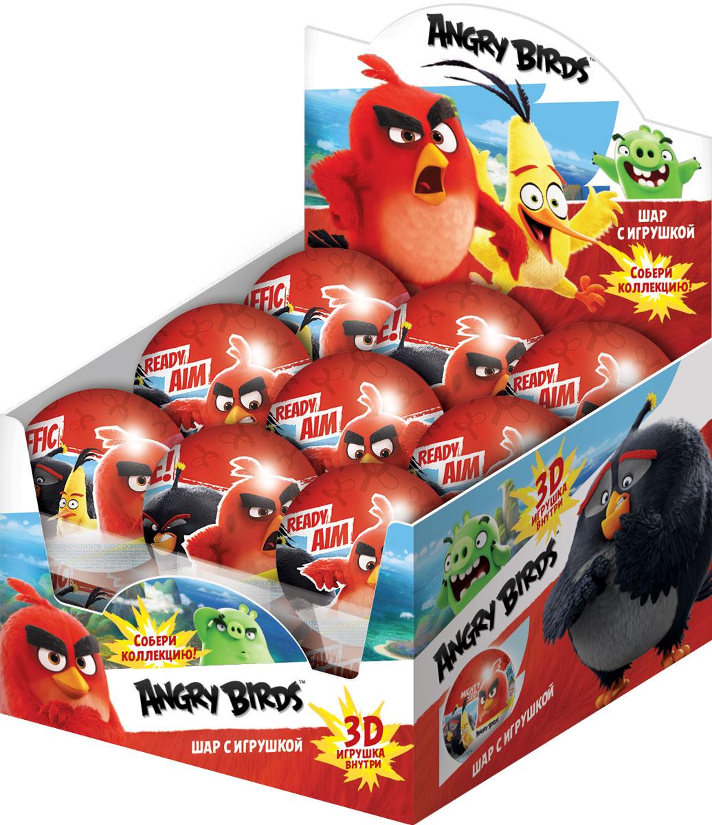 Angry Birds Movie шоколадный шар с сюрпризом, 18 шт по 25 гУТ20470Шар из молочной шоколадной глазури с игрушкой.