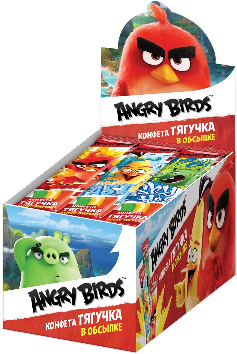 Angry Birds Movie фруктовая жевательная конфета, 30 шт по 18 гУТ20749Жевательная конфета в крахмальной обсыпке, трехцветная, в индивидуальном герметично запечатанном флоупаке с дизайном и текстом. Вкусы: клубника, яблоко, апельсин.