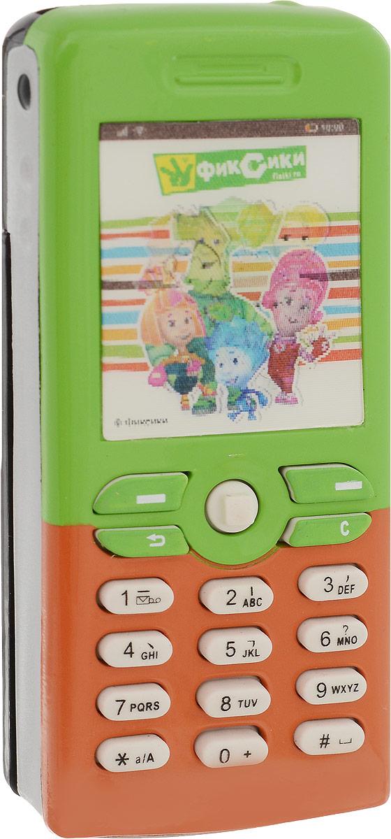 Фиксики Игрушечный мобильный телефон цвет оранжевый зеленый