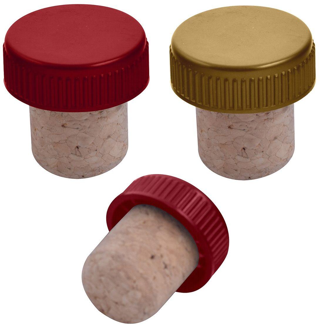 Пробка для бутылок Мультидом, 2 х 2 х 3 см, 2 штDH13-114Пробка для бутылок Мультидом предназначена для укупоривания открытых бутылок. Пробка плотно входит в горлышко бутылки и не позволяет содержимому пролиться, сохраняя свойства напитков.Пробка многоразового использования.После применения необходимо промыть пробку в проточной воде и просушить.Изготовлена из коры дуба, и пластмассы (полипропилен).