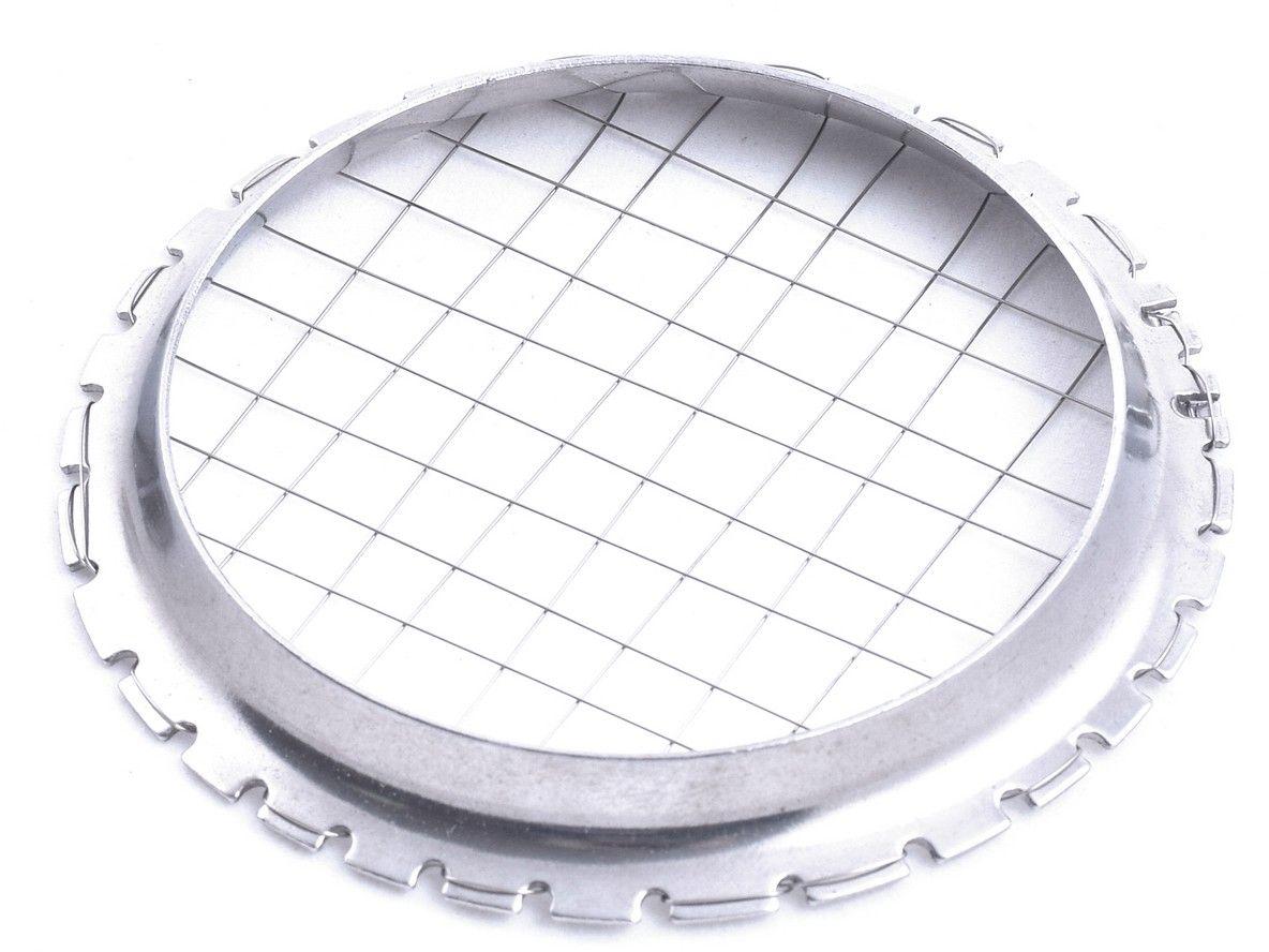 Овощерезка Мультидом Винегрет, 8 ммAN53-33Овощерезка Мультидом Винегрет предназначена для нарезки вареных овощей кусочками правильной геометрической формы.Изготовлено: струны из коррозионностойкой (нержавеющей) стали.Диаметр 9 см, размер ячейки 8 х 8 мм.После использования промыть мягкой щеткой или губкой, можно с использование жидких моющих средств.