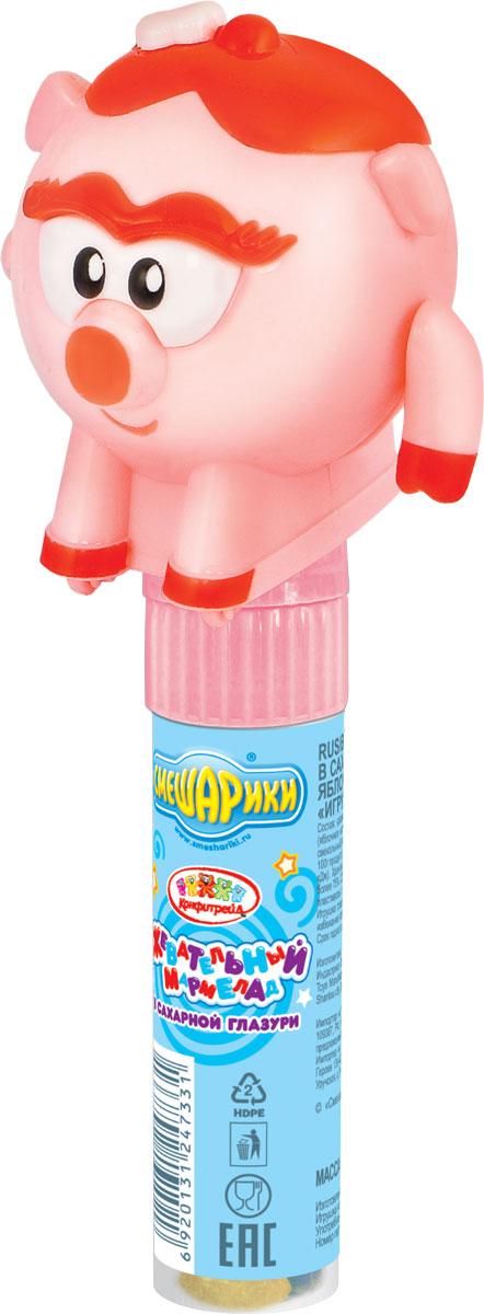 Смешарики фруктовый мармелад с игрушкой, 20 гУТ20907Пластиковая туба из пищевого материала с игрушкой в виде героев Смешарики: Нюшей и Ёжиком.
