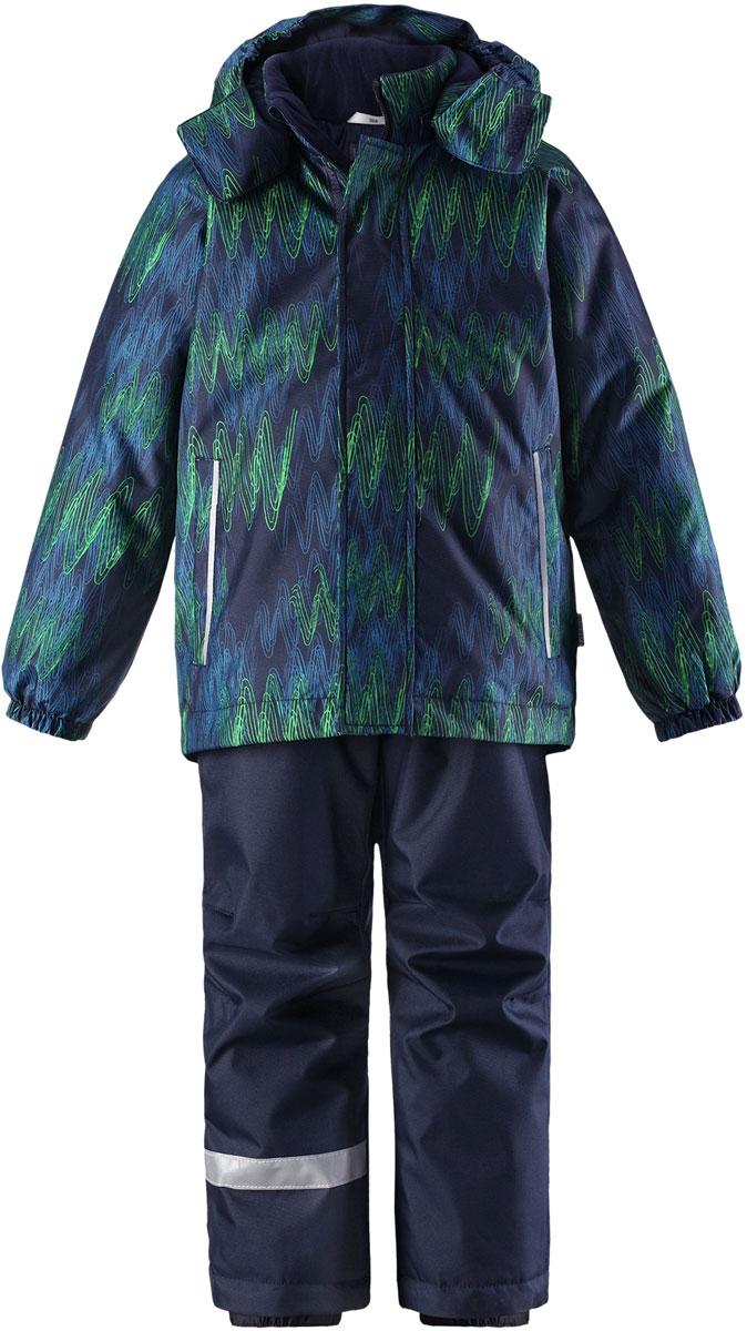 Комплект верхней одежды детский Lassie, цвет: синий. 7237136963. Размер 1227237136963100% Полиэстер