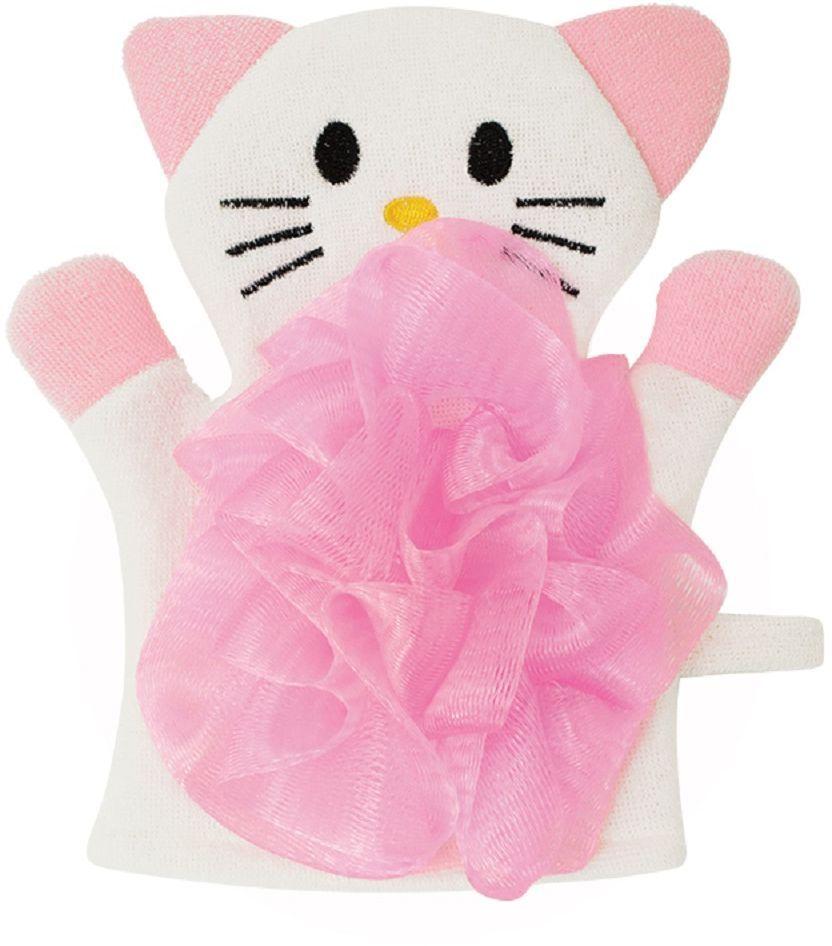 Lubby Мочалка Кошечка lubby нагрудник детский с рукавами в мире животных