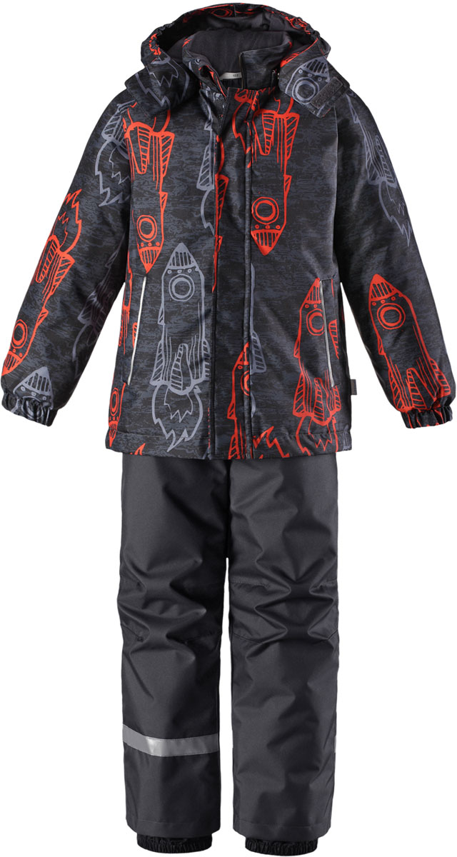 Комплект детский Lassie: куртка, брюки, цвет: серый, оранжевый. 7237152891. Размер 110