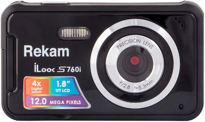 Rekam iLook S760i, Black цифровая фотокамера цифровая фотокамера rekam ilook s777i красный 1108005124