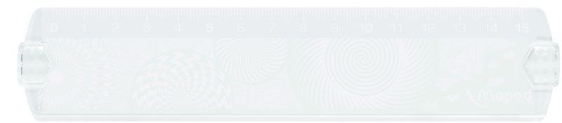 Maped Линейка Geocustom 15 см254015Линейка Maped Geocustom, выполненная из пластика, имеет шкалу на 15 см. Обязательный атрибут любого школьника.Сделайте линейку неповторимой: раскрасьте рисунки на обратной стороне. Высушите. Удалите избыток краски тряпочкой.
