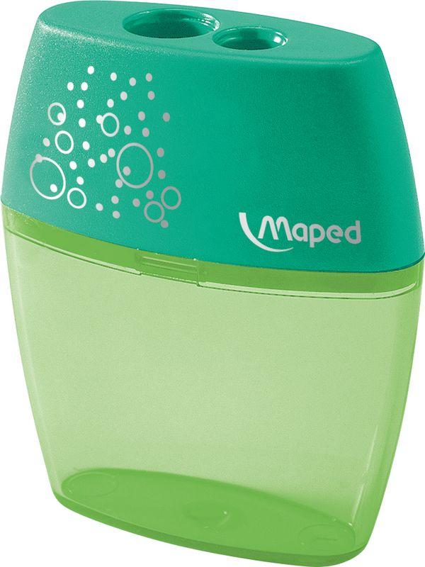 Maped Точилка Шейкер двойная цвет зеленый