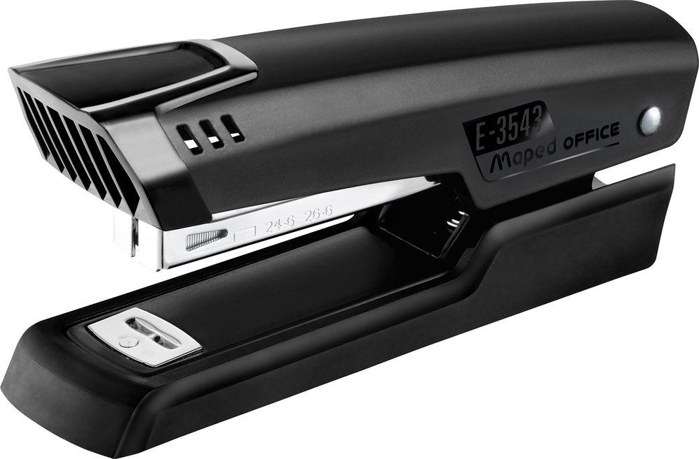 Maped Степлер №24/6-26/6 цвет черный354311Степлер настольный Maped - незаменимый офисный инструмент.Изделие выполнено из пластика с металлическим механизмом. Степлер рассчитан на скрепление 25 листов скобами №24/6-26/6.Степлер со гарантирует стабильную и качественную работу в течение долгого времени.
