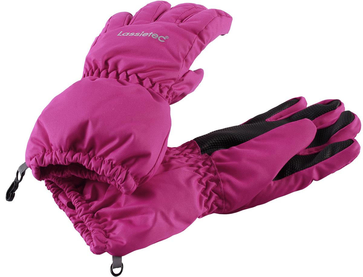 Перчатки для девочки Lassie Lassietec, цвет: розовый. 7277144800. Размер 47277144800Перчатки для девочки Lassie согреют ручки ребенка во время зимних прогулок. Перчатки изготовлены из прочного, ветронепроницаемого материала. В таких перчатках вашему ребенку не страшны никакие морозы!