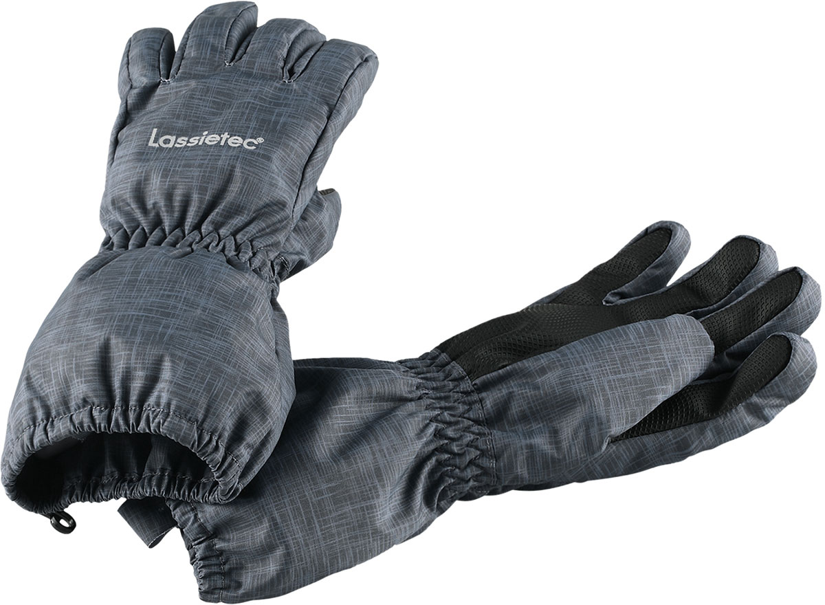 Перчатки детские Lassie Lassietec, цвет: серый. 7277149682. Размер 37277149682Детские перчатки Lassie согреют ручки ребенка во время зимних прогулок. Перчатки изготовлены из прочного, ветронепроницаемого материала. В таких перчатках вашему ребенку не страшны никакие морозы!