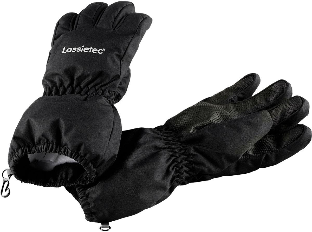Перчатки детские Lassie Lassietec, цвет: черный. 7277149990. Размер 67277149990Детские перчатки Lassie согреют ручки ребенка во время зимних прогулок. Перчатки изготовлены из прочного, ветронепроницаемого материала. В таких перчатках вашему ребенку не страшны никакие морозы!