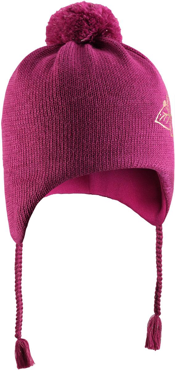 Шапка для девочки Lassie, цвет: розовый. 7287164800. Размер 54/567287164800Очаровательная шапка Lassie, изготовленная из нежной полушерстяной пряжи, незаменима в холодные зимние дни! Красивая и гладкая флисовая подкладка очень приятна на ощупь и обеспечивает дополнительное утепление. Ветронепроницаемые вставки защищают ушки от холодного ветра, а спереди на шапке размещена светоотражающая эмблема Lassie. Симпатичный помпон и украшение в виде цветка дополняют образ! Уважаемые клиенты!Размер, доступный для заказа, является обхватом головы.