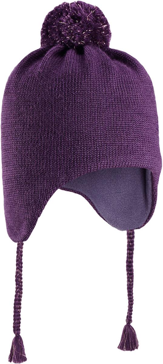 Шапка для девочки Lassie, цвет: лиловый. 7287164920. Размер 48/507287164920Очаровательная шапка Lassie, изготовленная из нежной полушерстяной пряжи, незаменима в холодные зимние дни! Красивая и гладкая флисовая подкладка очень приятна на ощупь и обеспечивает дополнительное утепление. Ветронепроницаемые вставки защищают ушки от холодного ветра, а спереди на шапке размещена светоотражающая эмблема Lassie. Симпатичный помпон и украшение в виде цветка дополняют образ! Уважаемые клиенты!Размер, доступный для заказа, является обхватом головы.