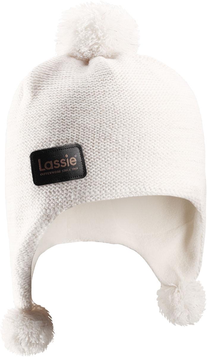 Шапка детская Lassie, цвет: белый. 7287170160. Размер 50/52 шапочка спортивная детская