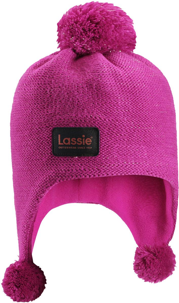 Шапка для девочки Lassie, цвет: розовый. 7287174800. Размер 54/567287174800Комфортная детская шапка Lassie идеально подойдет для прогулок в холодное время года, защищая ушки ребенка от ветра.Шапочка выполнена из полиакрила. Уважаемые клиенты!Размер, доступный для заказа, является обхватом головы.