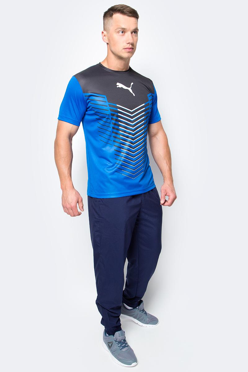 Футболка мужская Puma ftblTRG Graphic Shirt, цвет: голубой. 655206_23. Размер M (46/48)655206_23Футболка мужская ftblTRG Graphic Shirt изготовлена из полиэстера. Технологии dryCELL отводит влагу наружу и помогает сохранять сухость и свежесть в течение всей тренировки. Футболка декорирована графическим рисунком и набивным логотипом PUMA на груди по центру. Сзади имеются сетчатые вставки. Модель имеет стандартную посадку, круглый вырез горловины и стандартные короткие рукава. Такая футболка подходит не только для командных видов спорта, она также подойдет для тренировок благодаря высокому качеству и комфорту.