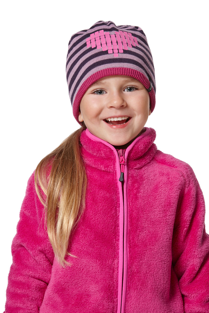 Шапка для девочки Lassie, цвет: розовый. 7287185161. Размер 50/527287185161Комфортная детская шапка Lassie идеально подойдет для прогулок в холодное время года, защищая ушки ребенка от ветра.Шапочка выполнена из полиакрила и шерсти. Уважаемые клиенты!Размер, доступный для заказа, является обхватом головы.