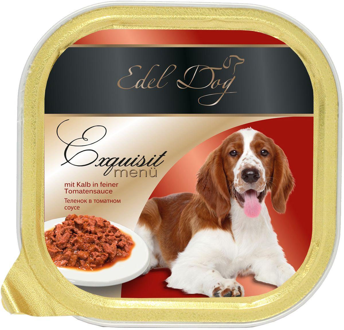 Корм консервированный Edel Dog для собак, теленок в томатном соусе, 150 г корм консервированный edel dog для собак теленок в томатном соусе 150 г