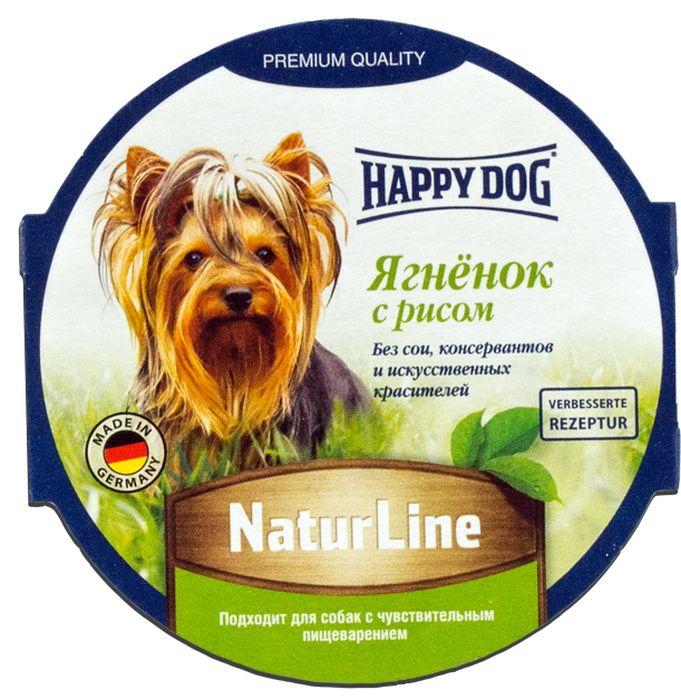 Консервы Happy Dog Natur Line для собак, с ягненком и рисом, 85 г