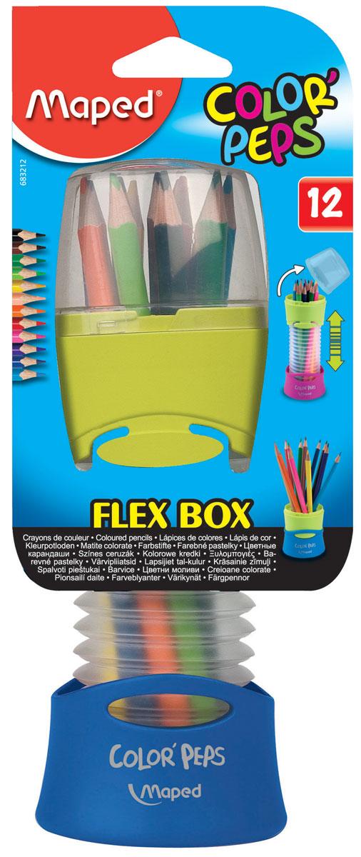 Maped Набор цветных карандашей 12 цветов цвет упаковки синий maped набор цветных карандашей color pep s jumbo 18 цветов