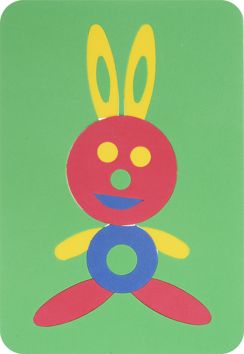 Август Пазл для малышей Заяц цвет основы зеленый флексика пазл для малышей геометрия цвет основы красный