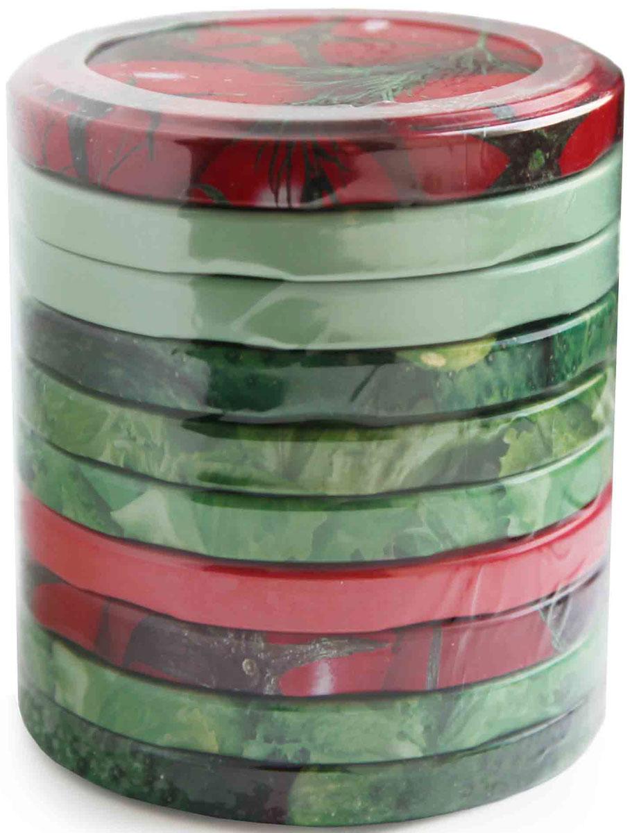 Набор состоит из 10 металлических винтовых крышек для консервирования. Такие крышки пригодятся каждой хозяйке на кухне. Сохраните яркий вкус лета на весь год с красочными крышками для консервирования! Диаметр крышки: 8,2 см.