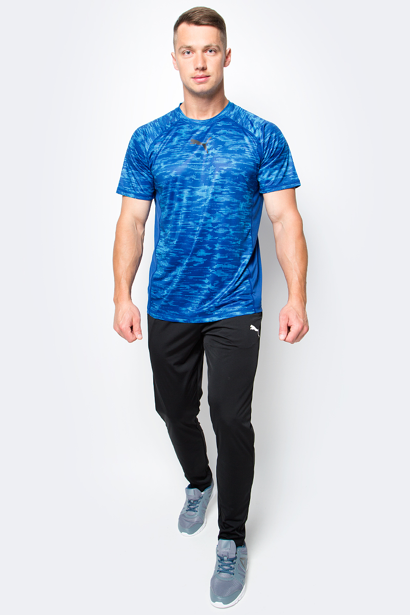 Футболка для бега мужская Puma Vent SS Graphic Tee, цвет: синий. 515164_02. Размер XXL (52/54) new original capping station ink pad unit for printer pro 4400 4450 4800 4880c 4880 capping top cap assy